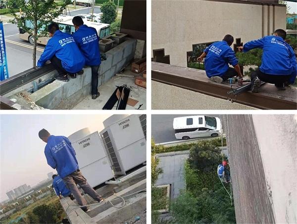 林州市第二人民医院亮化工程施工现场