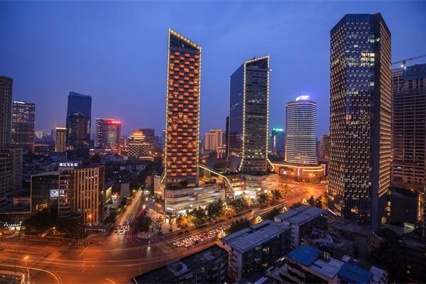 城市建筑夜景亮化