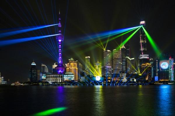 城市夜景灯光秀