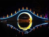 公园桥亮化工程-灯光效果衬托夜景美