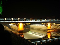 景区桥亮化设计-表现桥梁整体艺术造型