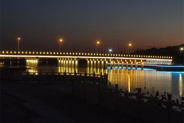 信阳市息县听淮桥桥梁亮化工程效果
