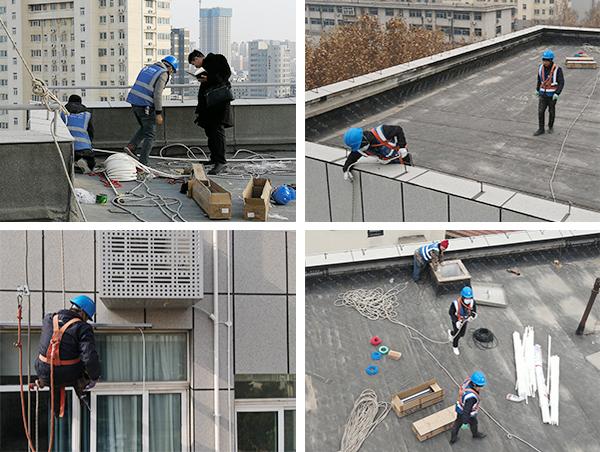 云南省昆明市消防局大楼亮化工程施工现场