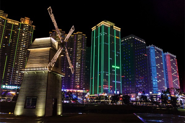 建筑夜景灯光亮化