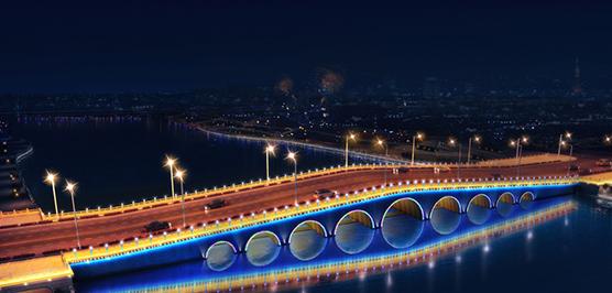 桥梁亮化第一步确定灯具位置