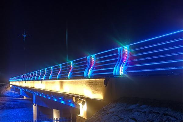 八一桥桥梁亮化