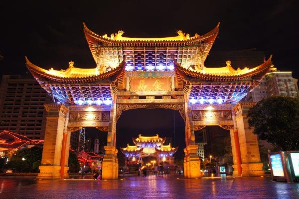 仿古建筑亮化展现中华民族文化意境