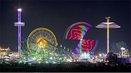 主题乐园灯光亮化带动园区夜间营业收入