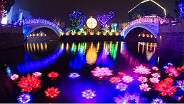 文旅夜游灯光增强游览趣味性