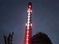 烟囱亮化施工-营造城市灯光氛围
