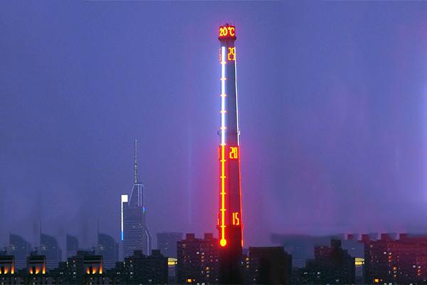 烟囱亮化设计-满足城市夜景美化
