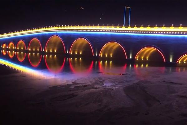 信阳市息县九孔桥桥梁亮化工程施工效果展示