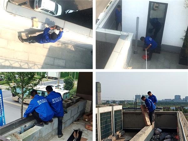 郑州市华府国际亮化工程施工现场