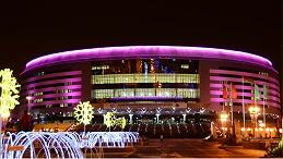 建筑楼体亮化增添城市夜晚魅力