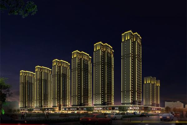 住宅小区夜景亮化构建清悠闲逸的夜景