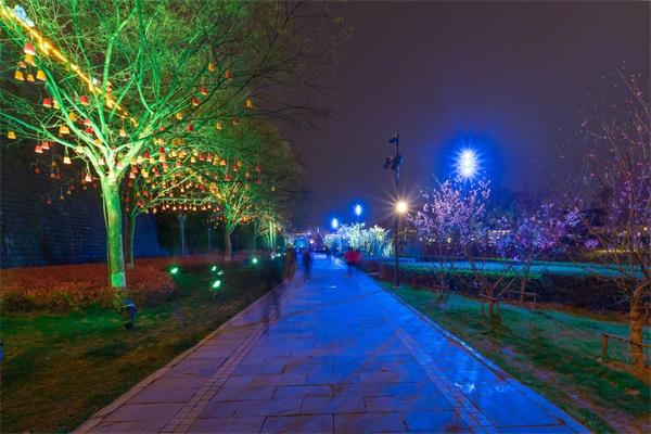 公园夜景灯光亮化