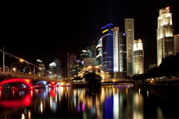 建筑群夜景灯光亮化