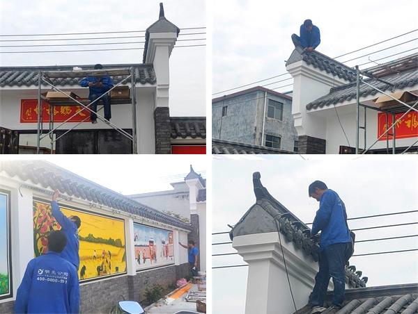 驻马店新蔡县农村别墅楼体亮化工程施工