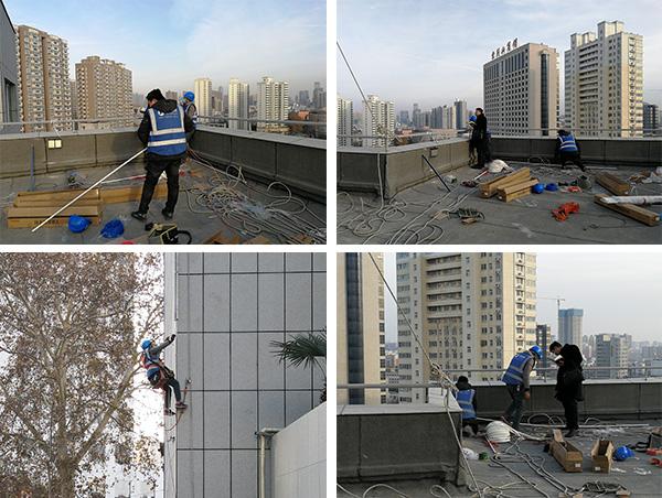 郑州中科新兴产业技术研究院楼体亮化施工现场