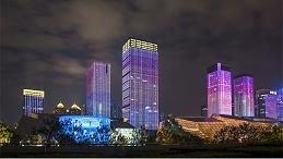 城市夜景灯光照明增强城市的夜景特色