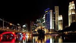 城市夜景灯光亮化使城市更加繁荣