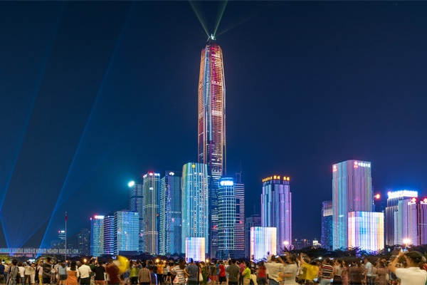 城市楼体照明是城市工程建设的一部分