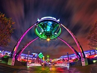 河南游乐园亮化-添加交互式灯光体验