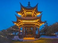 凉亭灯光设计-象征城市文明发展