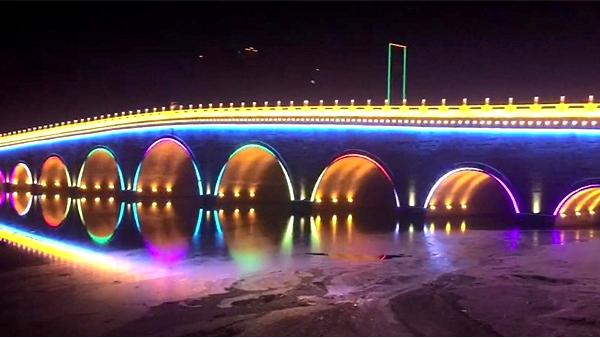 信阳市息县九孔桥桥梁亮化工程效果