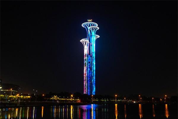 景观塔灯光亮化
