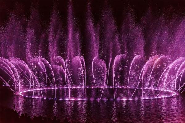 喷泉夜景灯光亮化